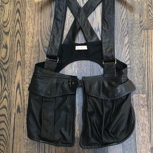 Mara Hoffman leather utility Demi Moore vest